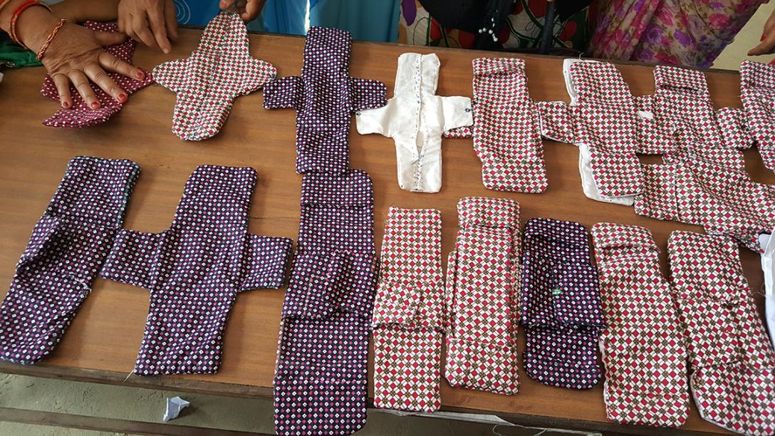 Training in reusable sanitary pad production in two projects implemented in Nepal by FCG